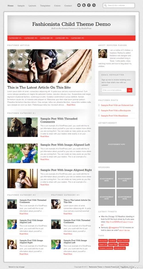 Fashionista Premium WordPress Theme