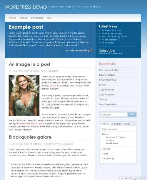 alaska wordpress theme