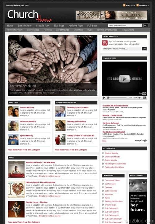 revolution church 3.0 wordpress theme