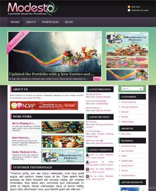 Modesto Portfolio Premium WordPress Theme