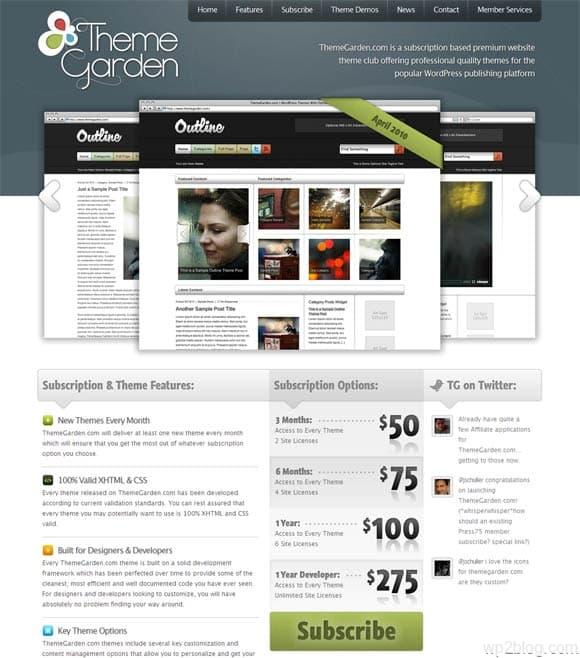 theme garden wordpress themes