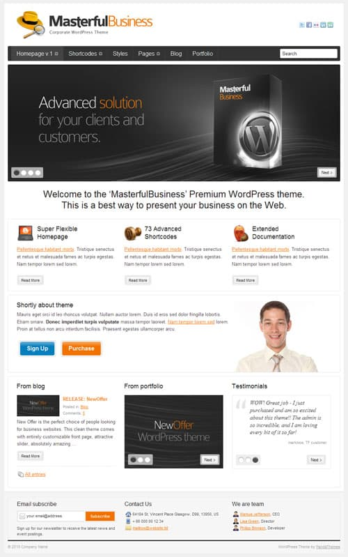 masterful business wordpress theme
