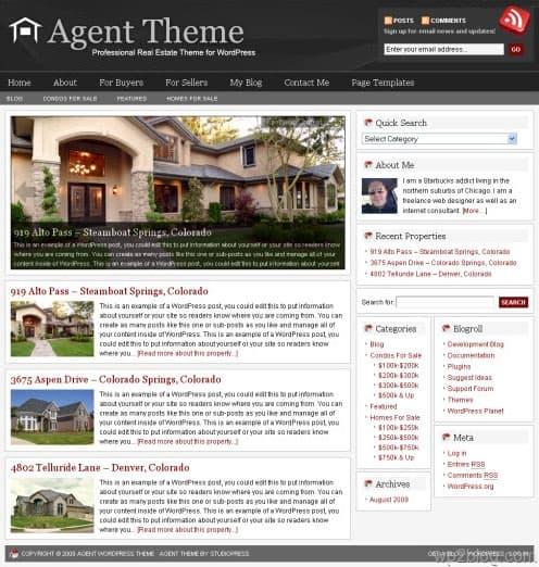 agent 3.0 wordpress theme