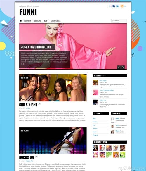 funky wordpress theme