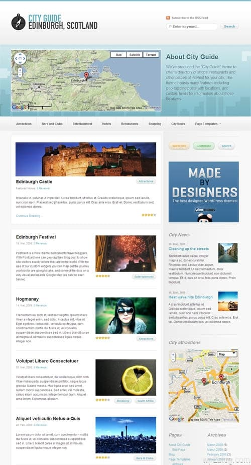 City Guide Premium WordPress Theme