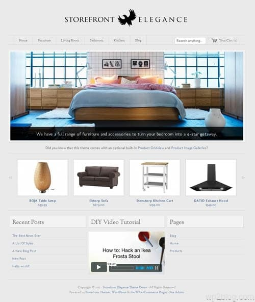 Storefront Elegance Ecommerce WordPress Theme