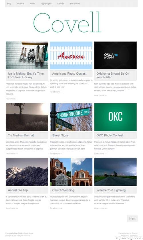 Covell WordPress Theme