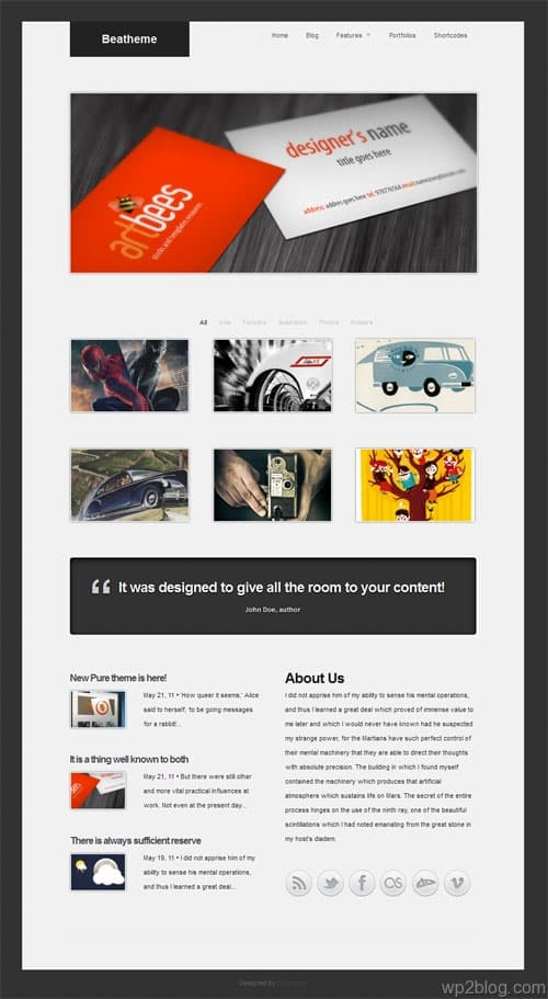 Pure III Portfolio WordPress Premium Theme