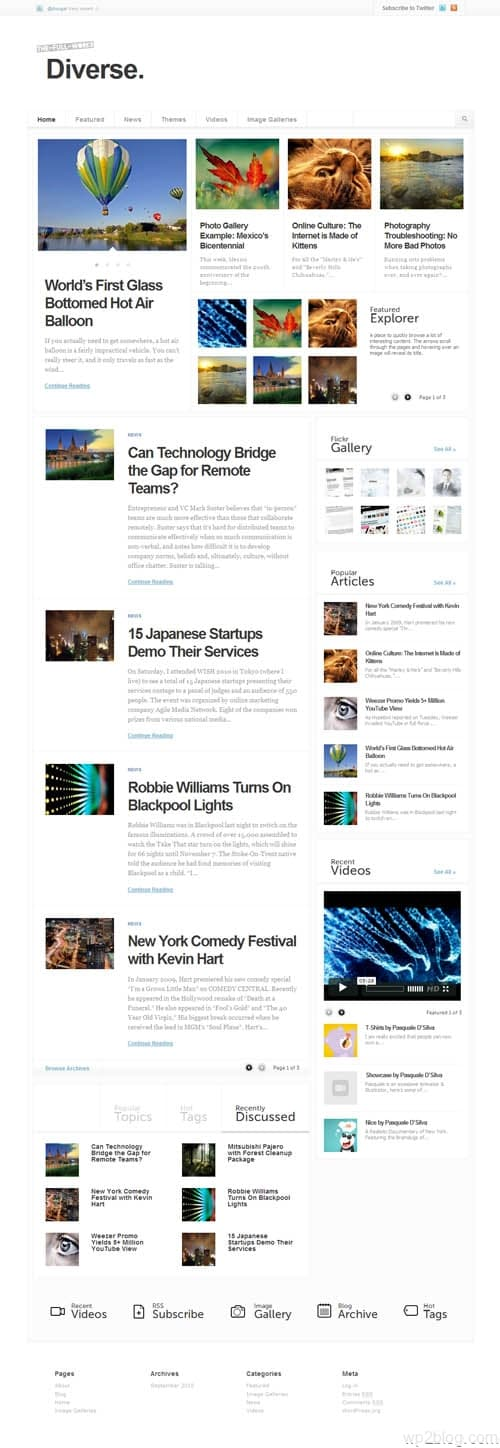 diverse wordpress theme
