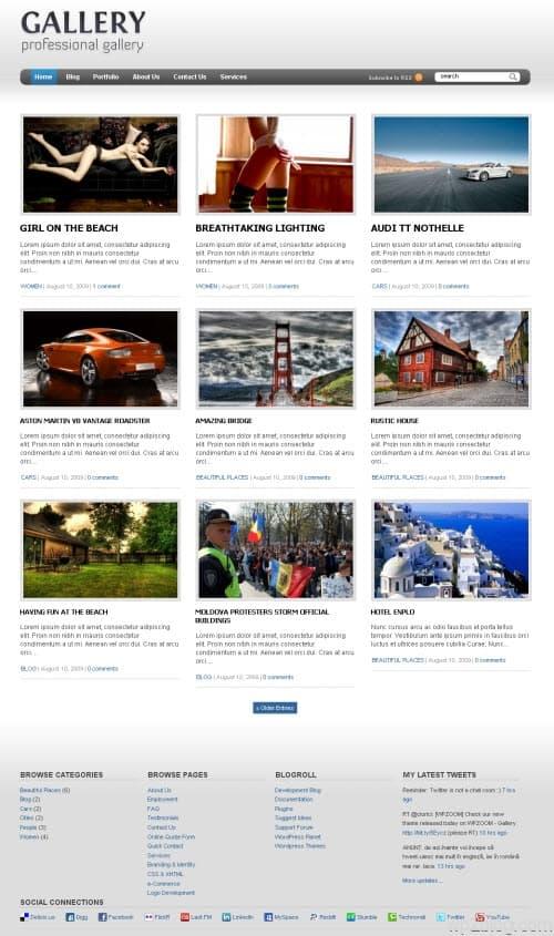 Gallery Premium WordPress Theme