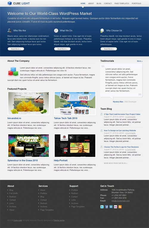 cube-light-wordpress-theme