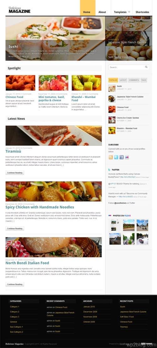 Delicious Magazine WordPress Theme