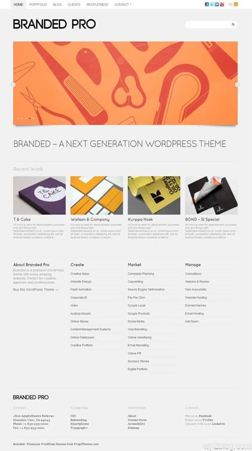 branded pro wordpress theme