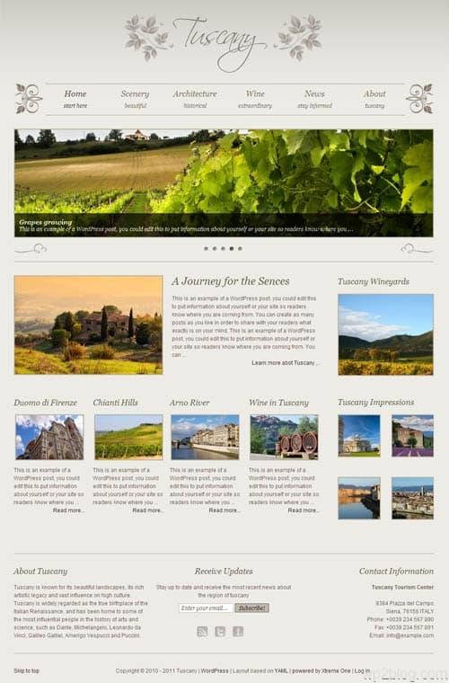 tuscany wordpress theme