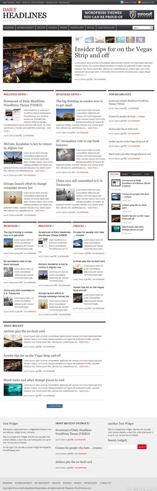 Daily Headlines Premium WordPress Theme