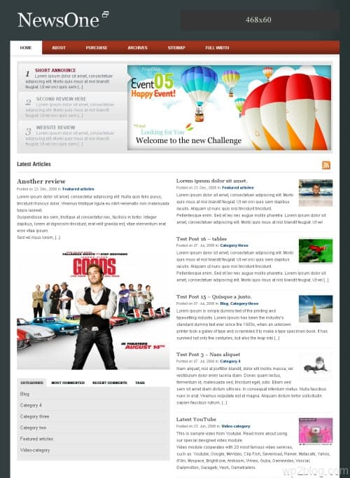 NewsOne WordPress Theme