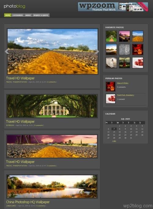 photoblog wordpress theme