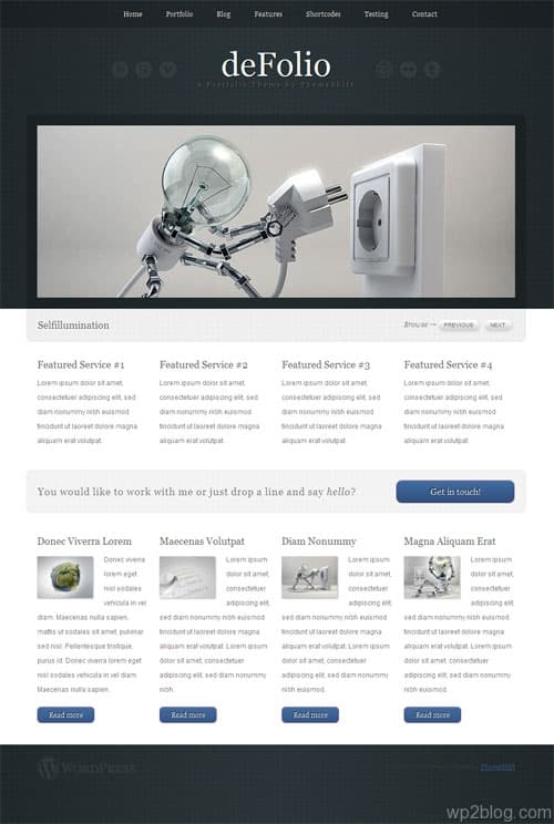deFolio Premium WordPress Theme
