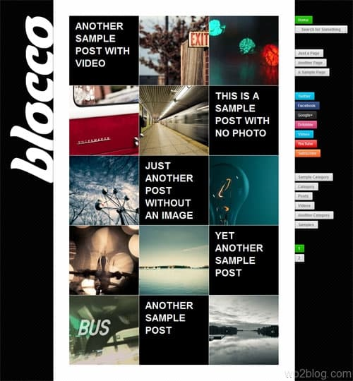 Blocco Responsive WordPress Theme