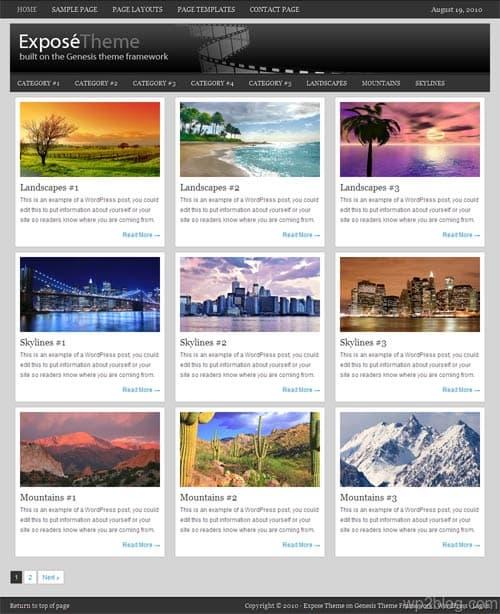 Expose 1.0 Premium WordPress Theme