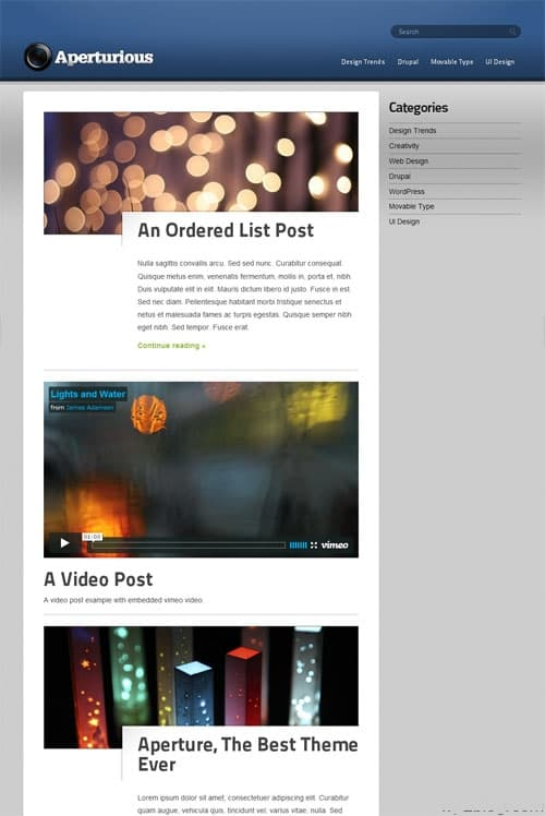 aperturous wordpress theme