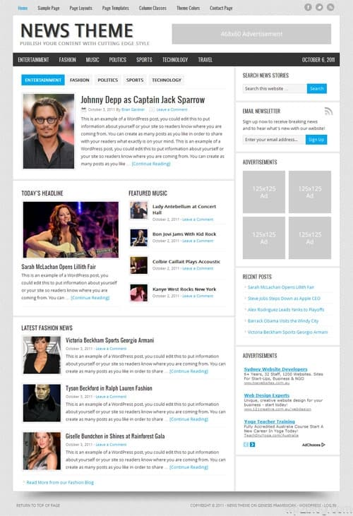 News 2.0 Premium WordPress Theme