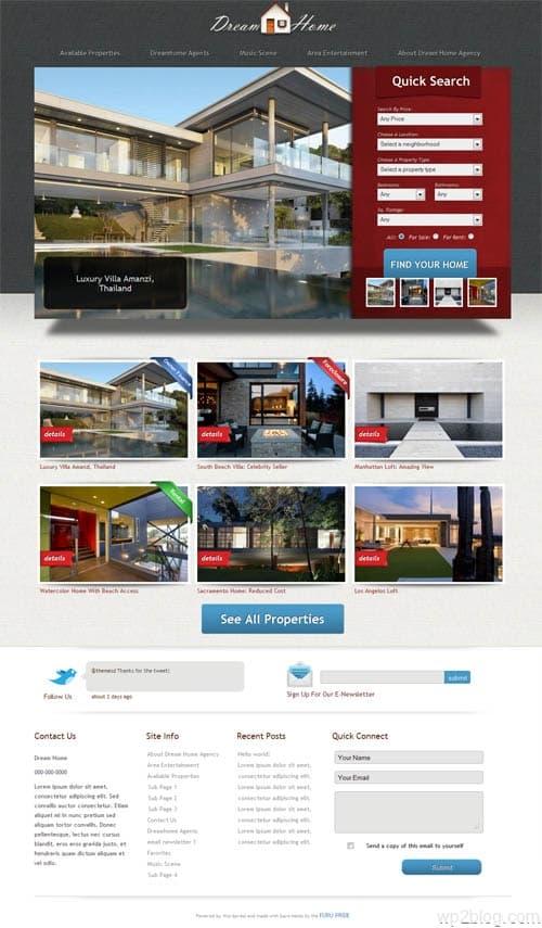 Dream Home Real Estate WordPress Theme