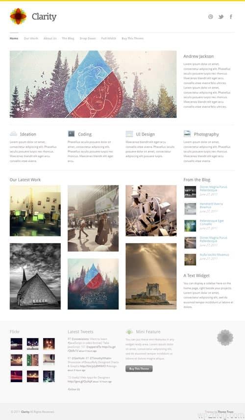 Clarity Business Portfolio WordPress Theme