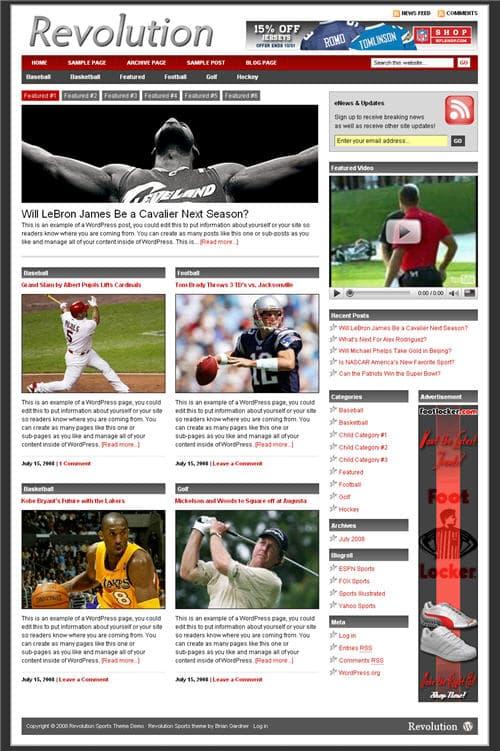 Revolution Sports Theme 3.0