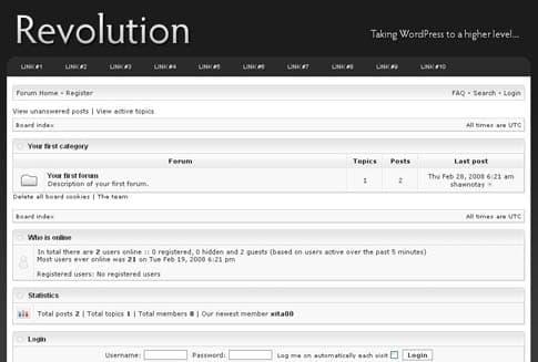 Revolution Pro Forum Template
