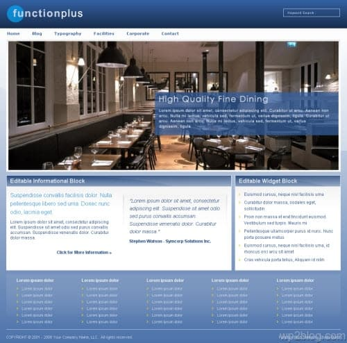 function plus wordpress theme