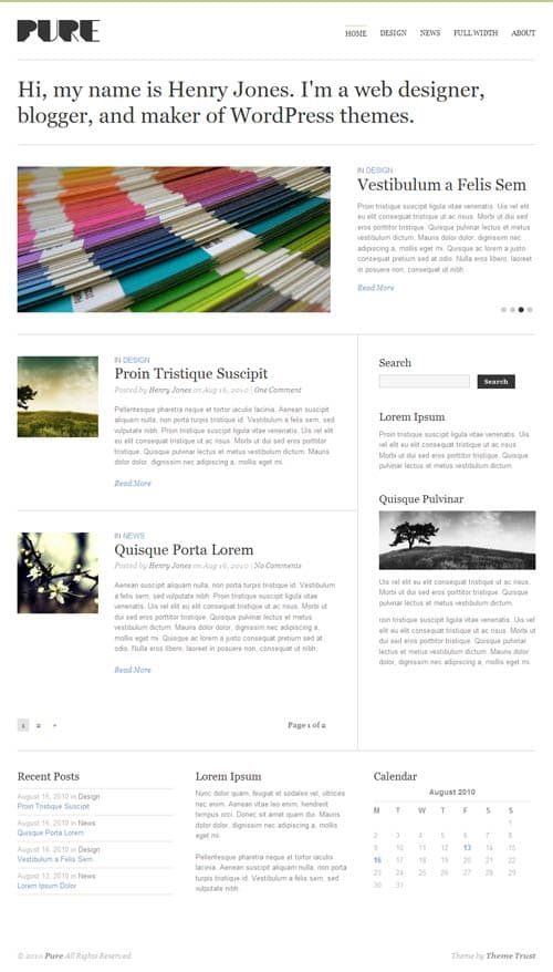 pure-wordpress-theme