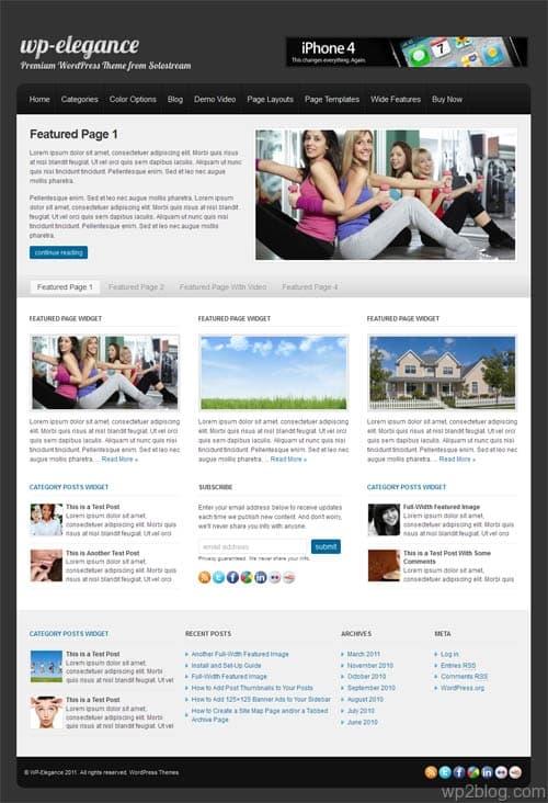 WP Elegance Business WordPress Theme