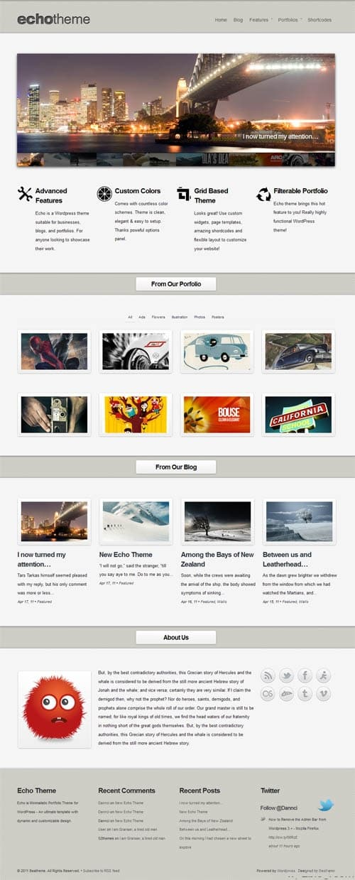 Echo WordPress Business Portfolio Theme