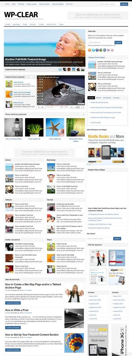 wp clear magazine wordpress theme