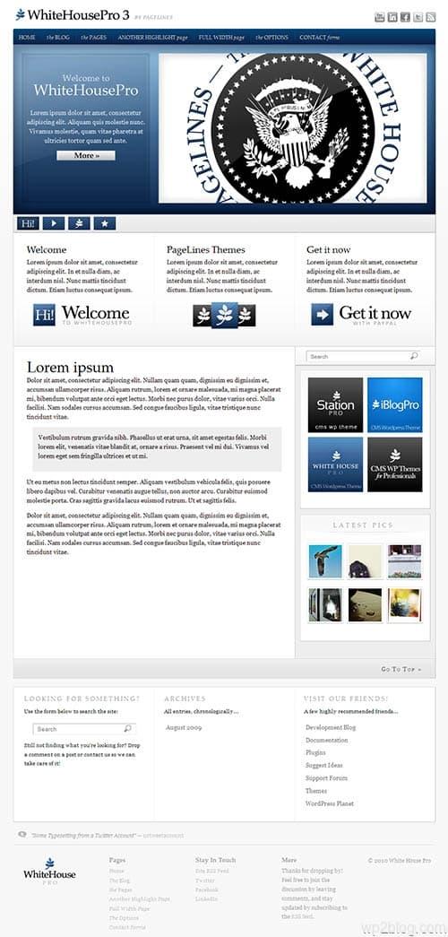 white house pro 3 wordpress theme