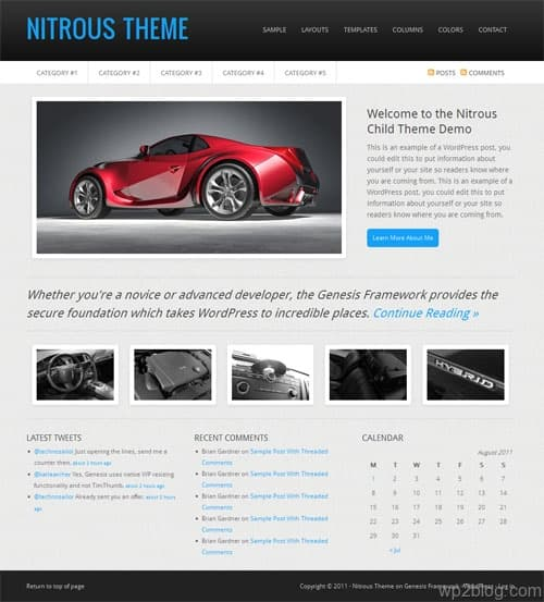 Nitrous Premium WordPress Theme
