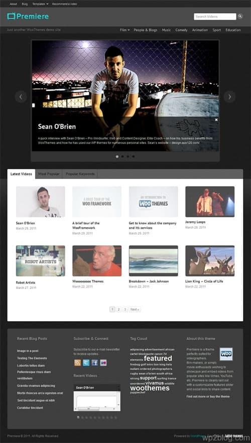 Premiere Video WordPress Theme