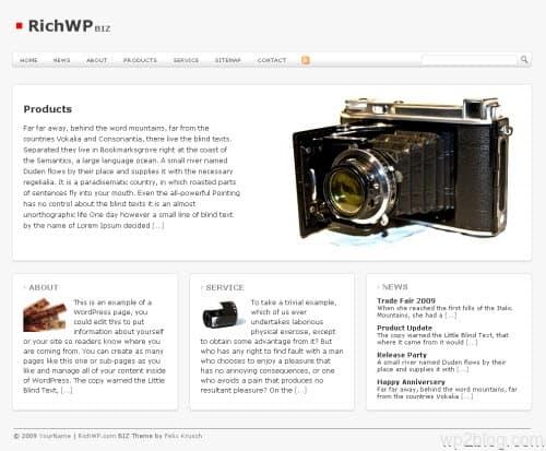 richbiz wordpress theme