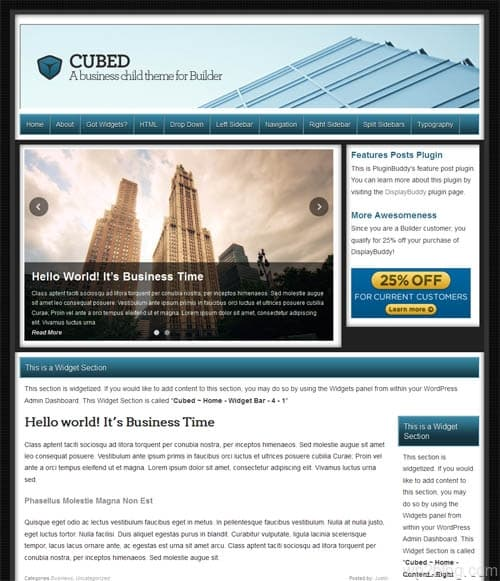 Cubed Premium WordPress Business Theme