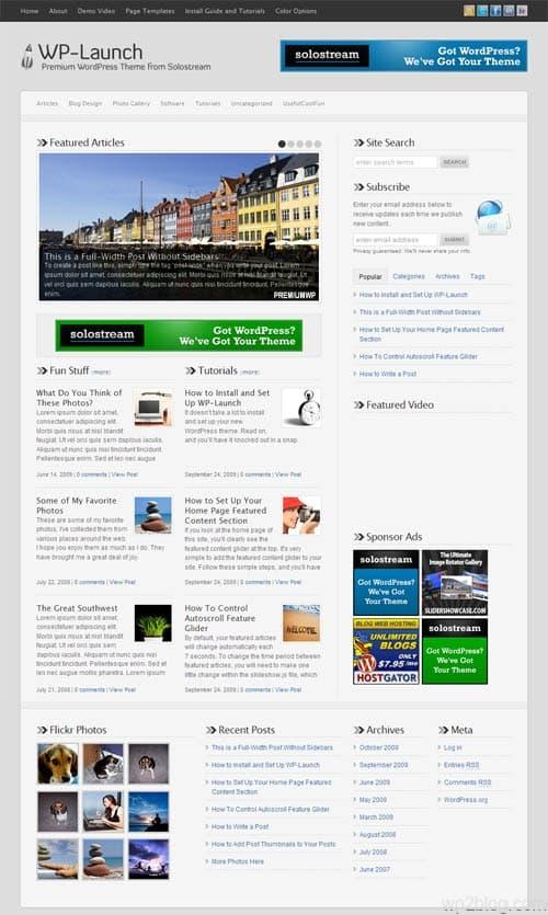 WP-Launch Premium WordPress Theme