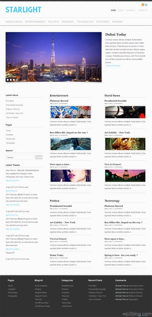 Starlight Premium WordPress Theme