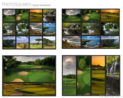 Photo Squares WordPress Theme Layouts