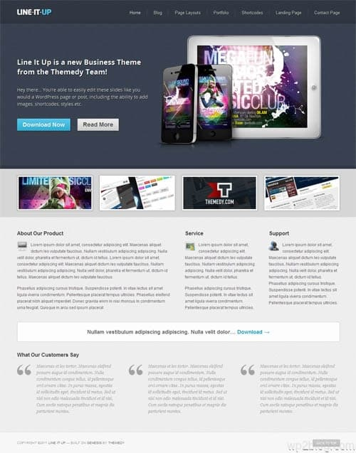 Line It Up Premium WordPress Theme