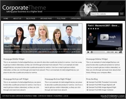corporate theme studiopress