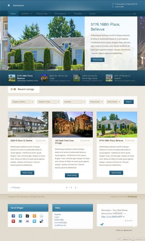Domestica Real Estate WordPress Theme