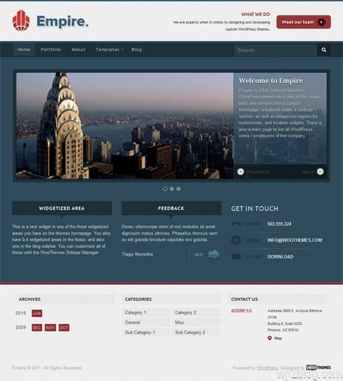 Empire Business WordPress Theme