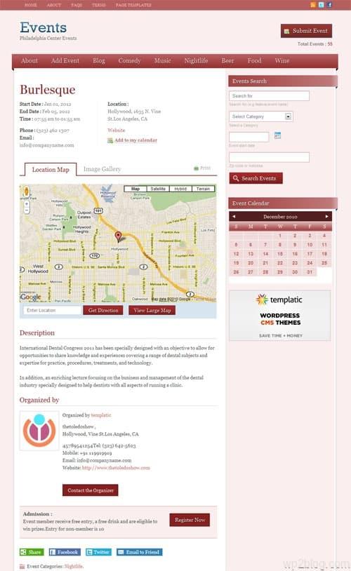 Events Portal WordPress Theme