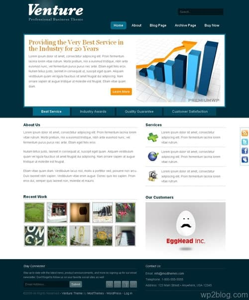 Venture Business CMS WordPress Theme