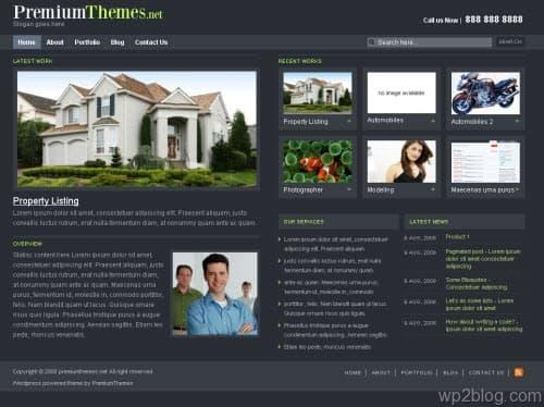 simple site 2 wordpress theme